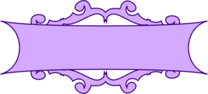 Banner clip pita. Purple scroll art scrapbooking