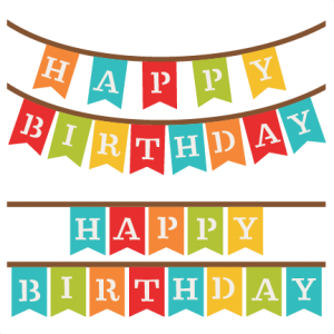 Banner clip svg. Happy birthday banners my