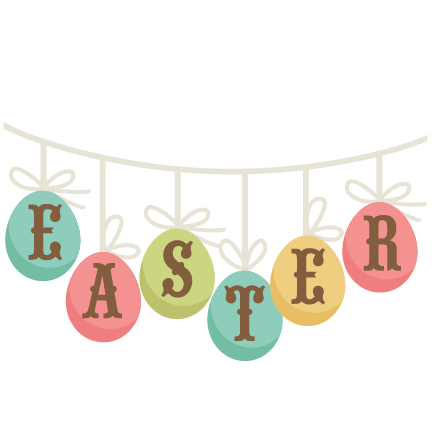 Banner clip title. Easter svg cutting file