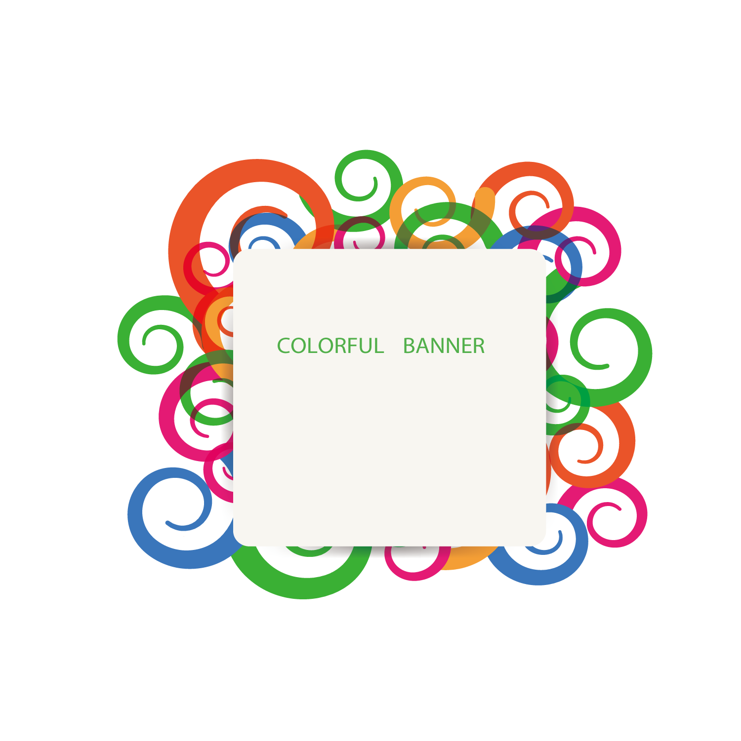Banner clip title. Picture frame color abstract
