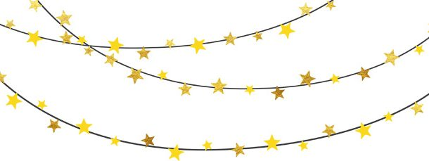 Banner clipart. Yellow and gold bunting