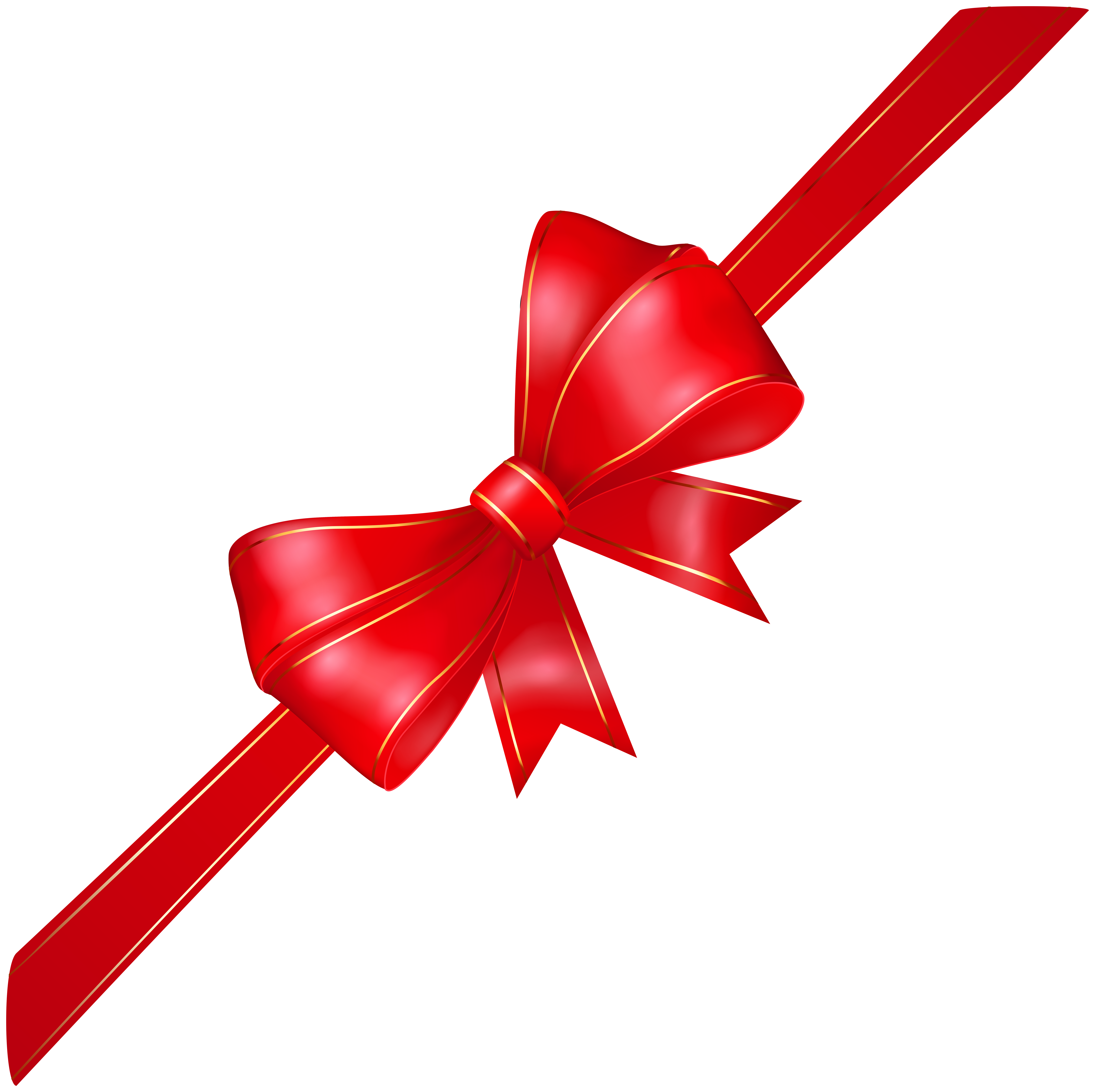 Corner bow png image. Transparent bg red clip art royalty free