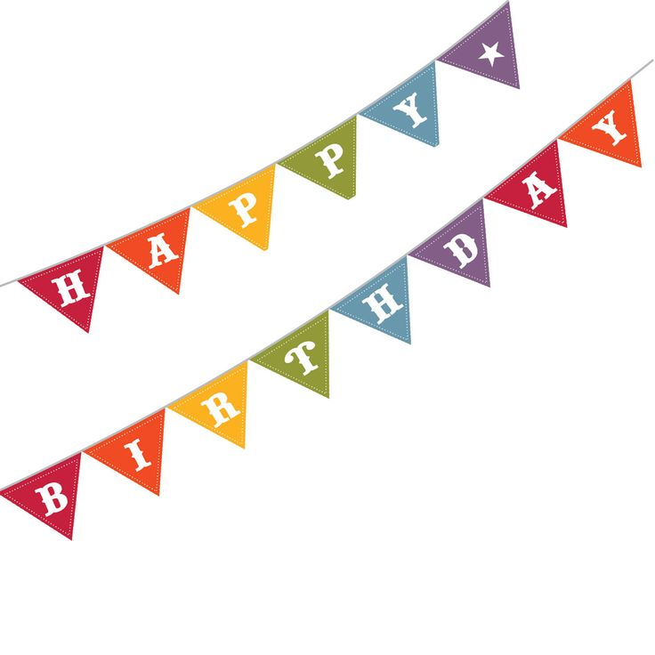 The best banners images. Pennant clipart birthday banner graphic freeuse download