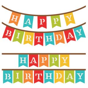 Banner clipart happy birthday. Best silhouette images