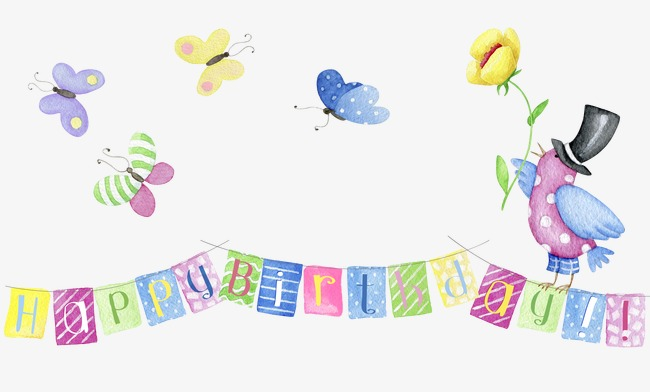 Banner clipart happy birthday. English fonts small png