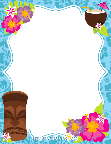 Luau clipart luau invitation. Printable border use the