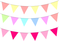 Banner clipart pastel. Free pennant bunting clip
