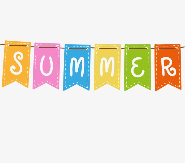 Banner clipart summer. Banners hanging flags png