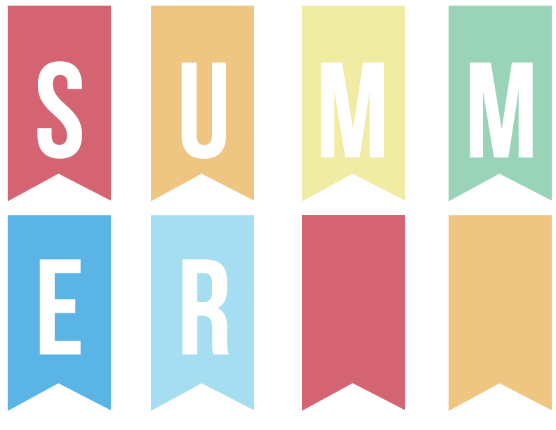 Banner clipart summer. Clip art library cliparts