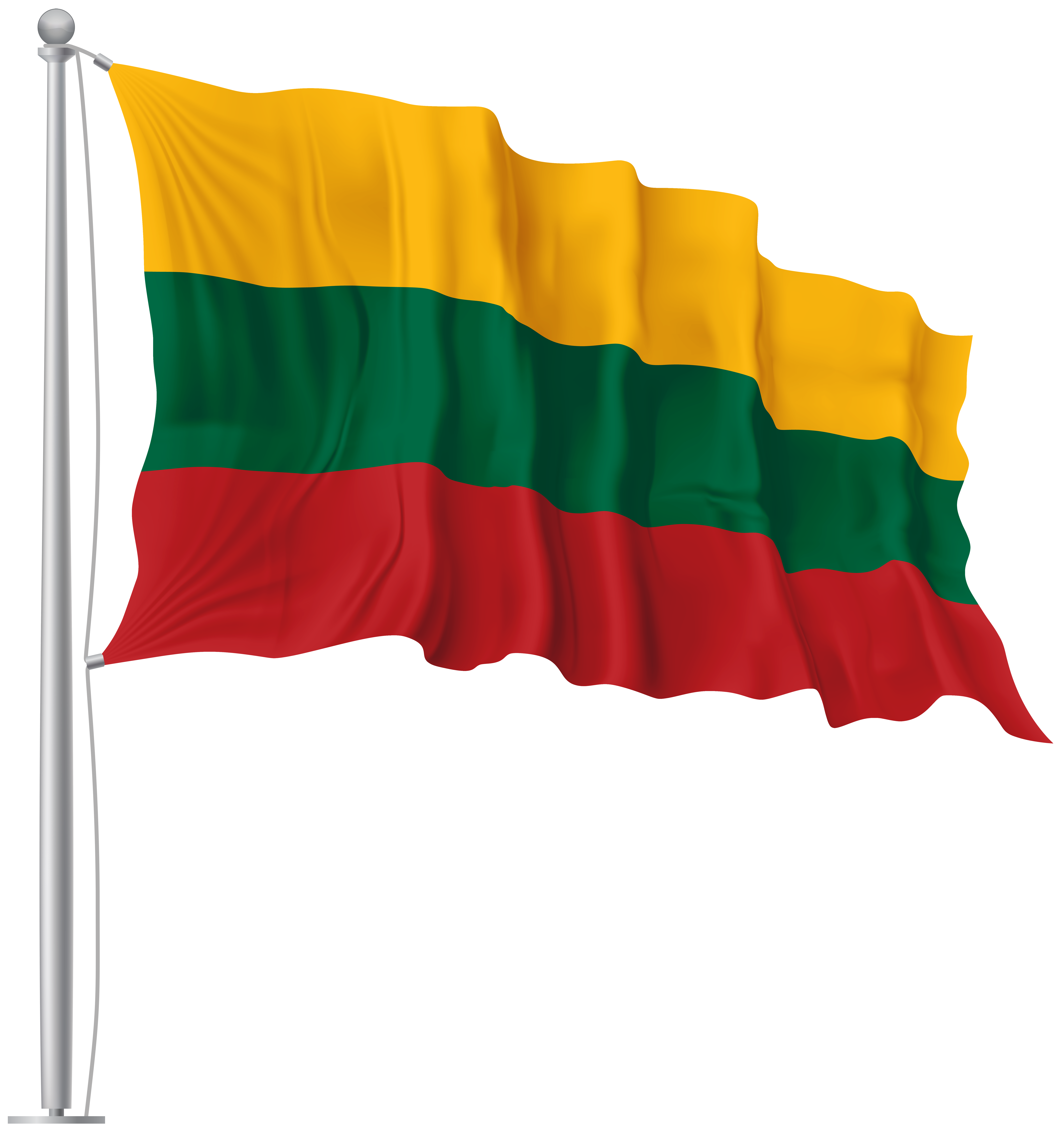 Banner flags png. Lithuania waving flag image