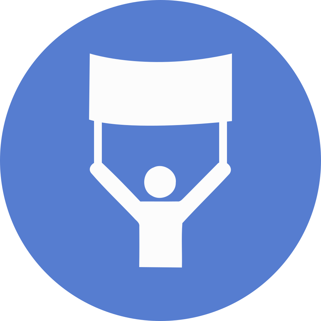 Banner icon png. Election circle blue iconset