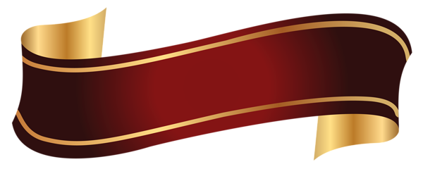 Banner png. Red and gold clipart
