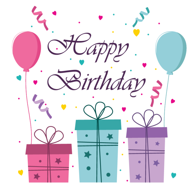 Banner png cute. Happy birthday greeting card