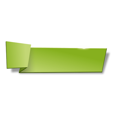 Banner png green. Origami horizontal transparent svg