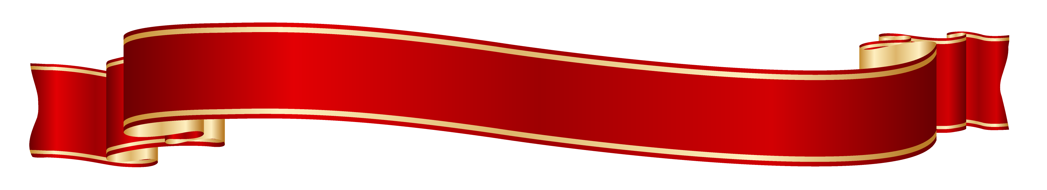 Banner png red. And gold clipart picture