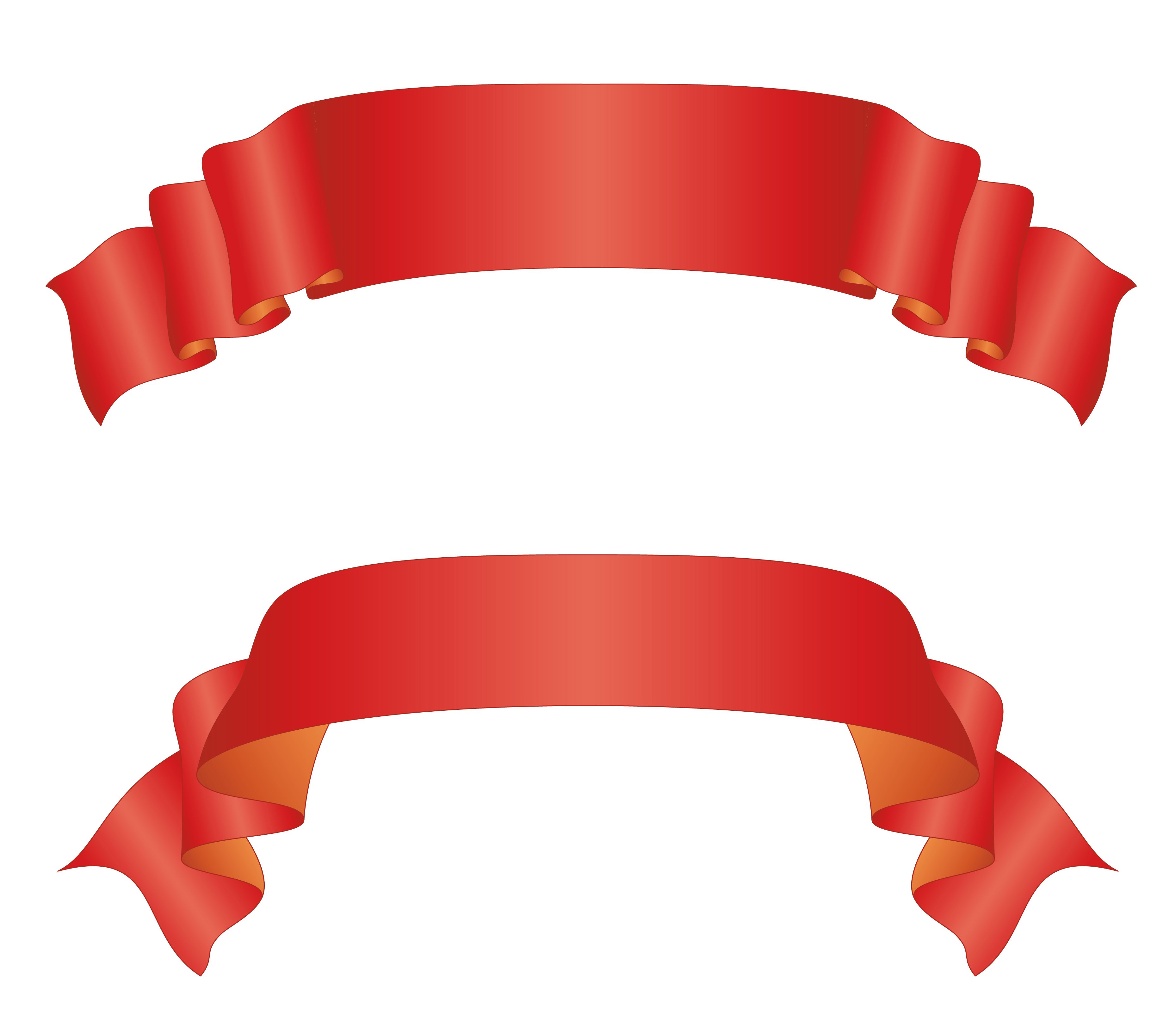 transparent ribbons curved