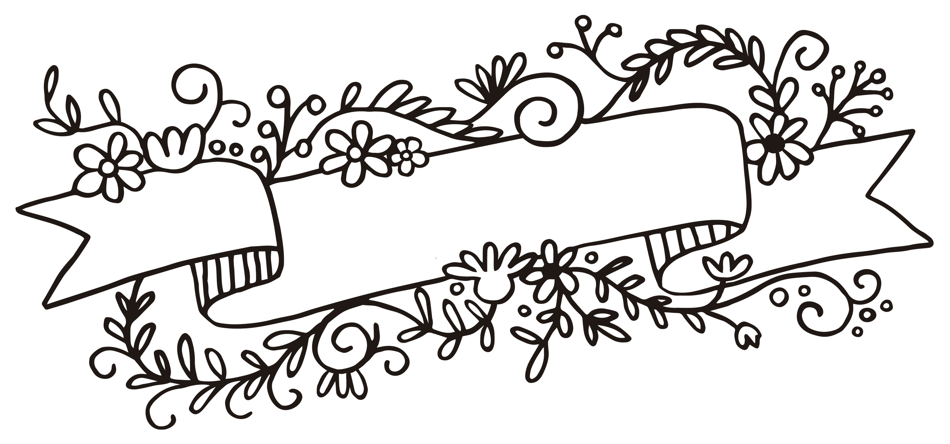 Banner png white. Rubber stamp flower web