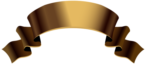 Banner ribbon png. Old gold clipart image