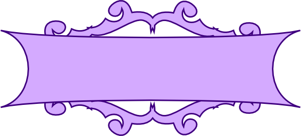 Banner scroll design png. Purple clip art at