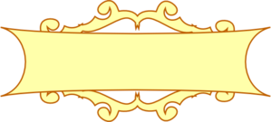 Banner scroll png. Gold clipart
