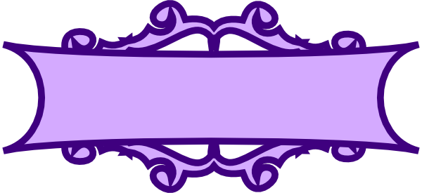 Banner scroll png. Purple clip art at