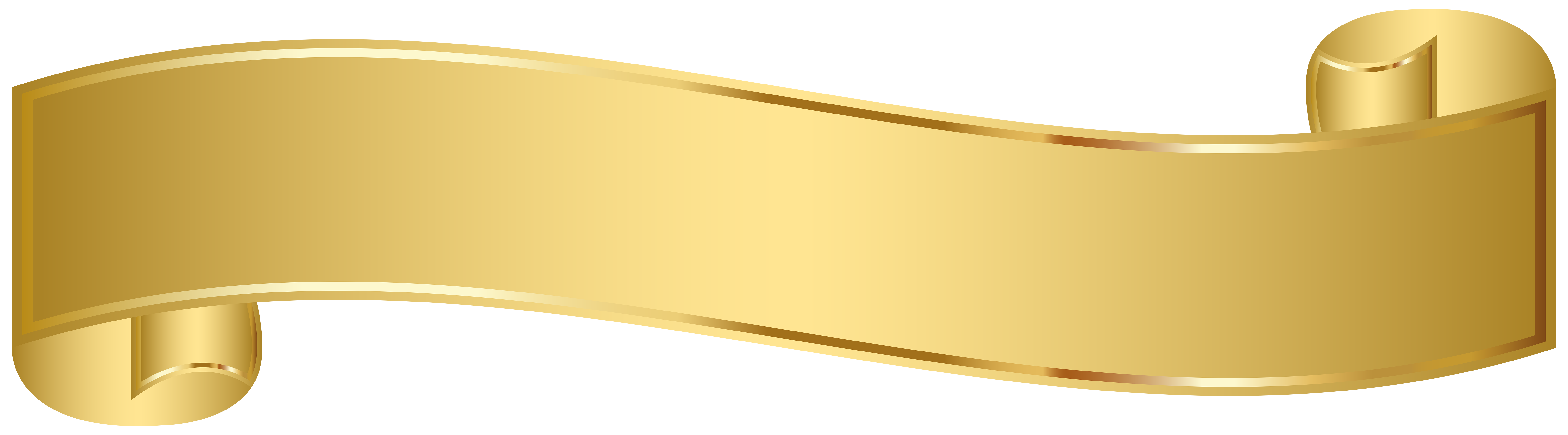 Gold ribbon banner png. Collection of clipart