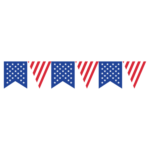 Banner triangle png. Ribbon usa flag bunting