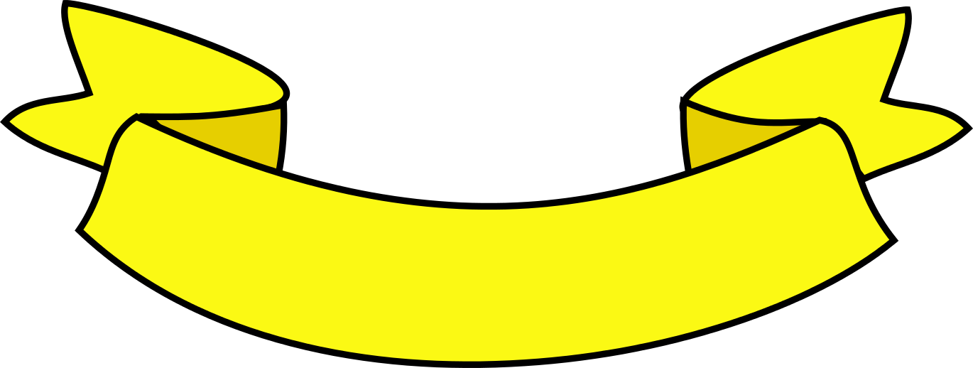 Banner verde png. Amarelo clipart images gallery