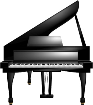 Banner with colored piano keys png transparent. Free images only clipart