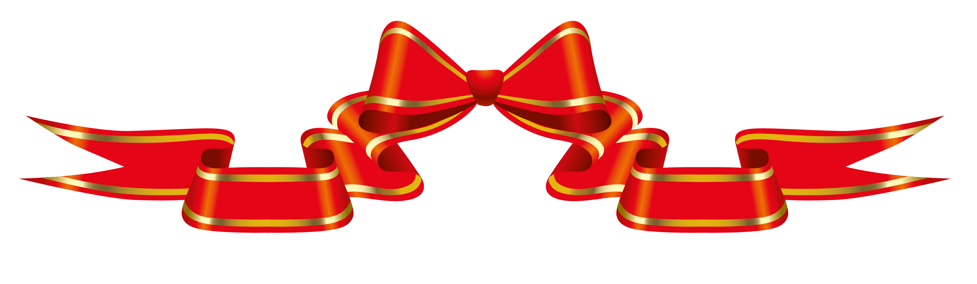 Banners clipart bow. Red banner with png