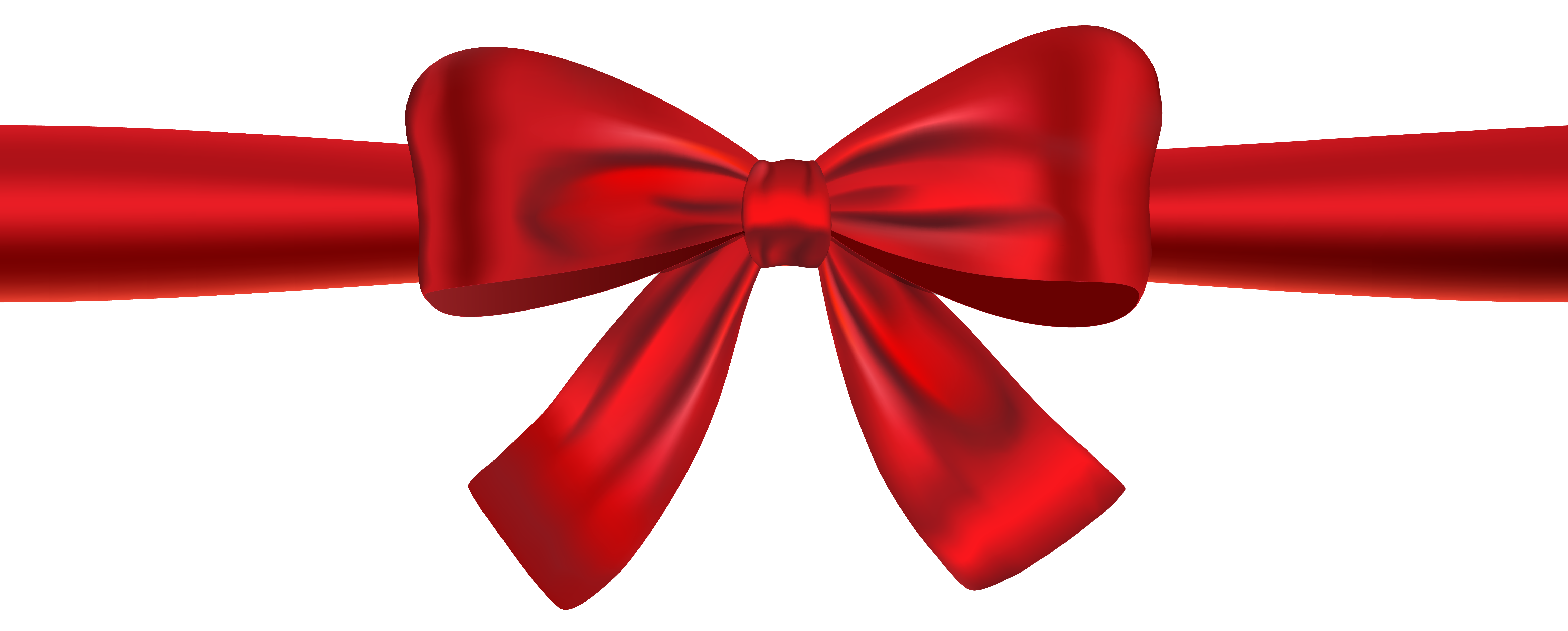 red ribbon bow png