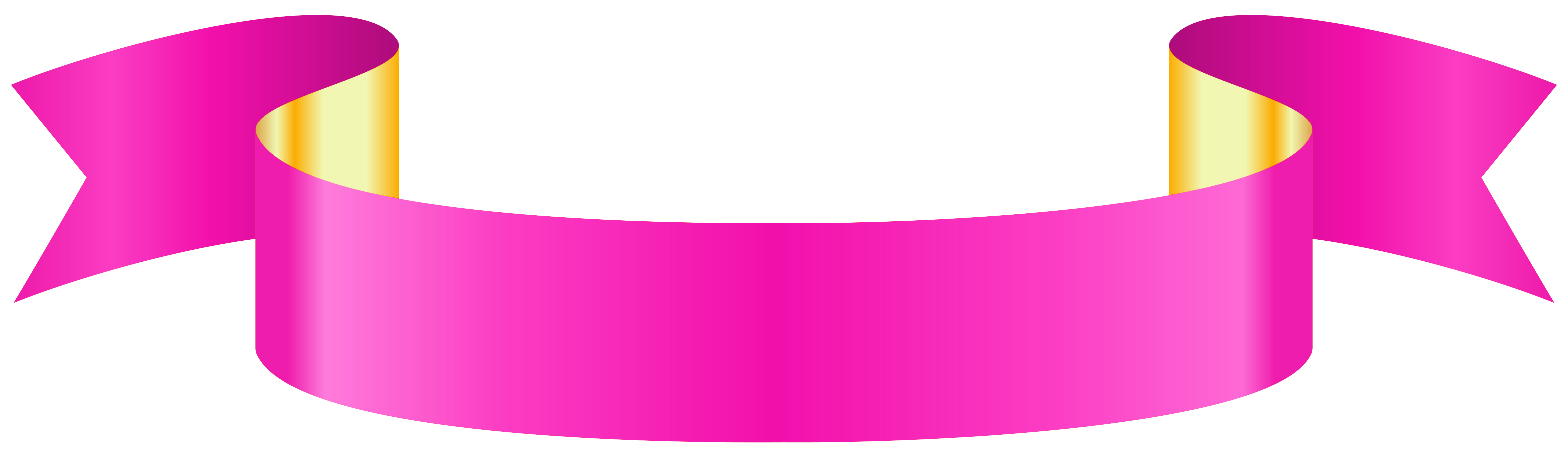 Banners clipart bow. Pink banner transparent png