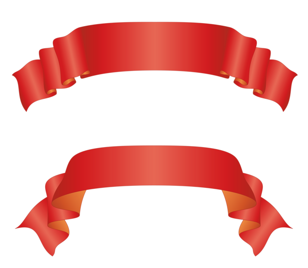 Banners clipart bow. Transparent large red bows