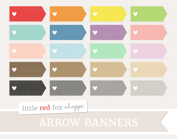 Banners clipart rectangle. Heart arrow banner by