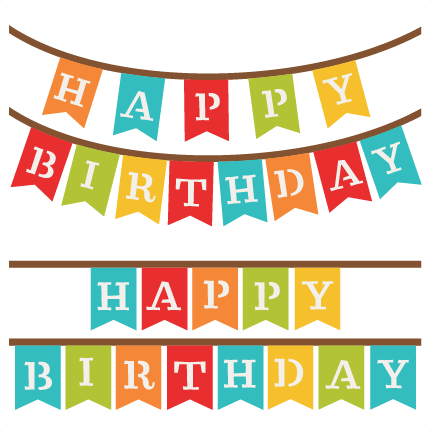 Happy birthday banner background png. Silhouette at getdrawings com