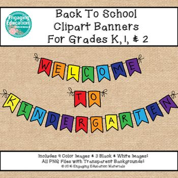 Banners clipart teacher. Welcome back to school