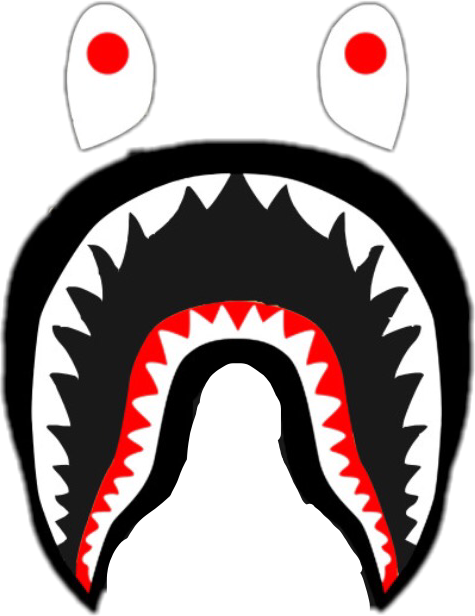 Bape shark logo png. Sticker by gianna olivieri