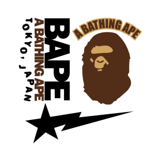 bape words png