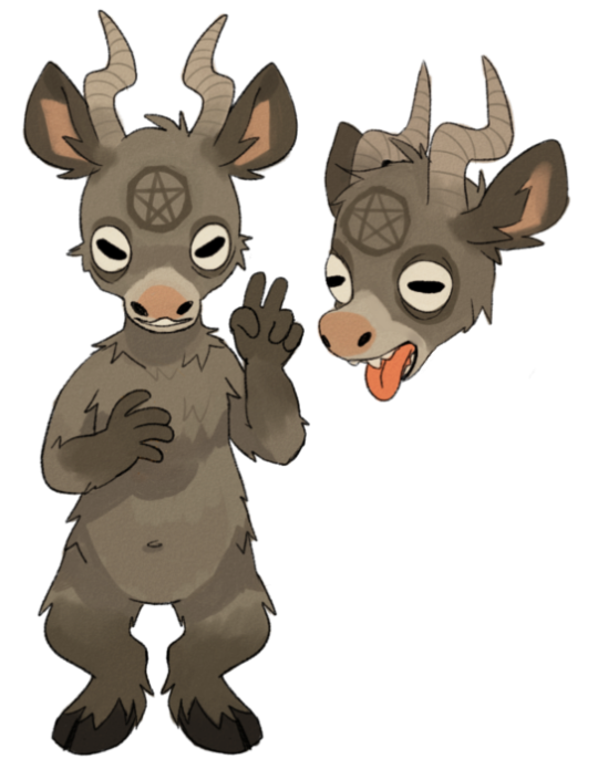 Baphomet transparent adorable. Trying to do some
