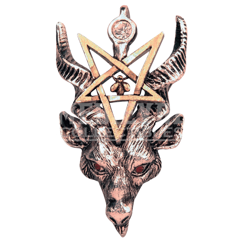 Baphomet transparent large. Gothic necklace fb by