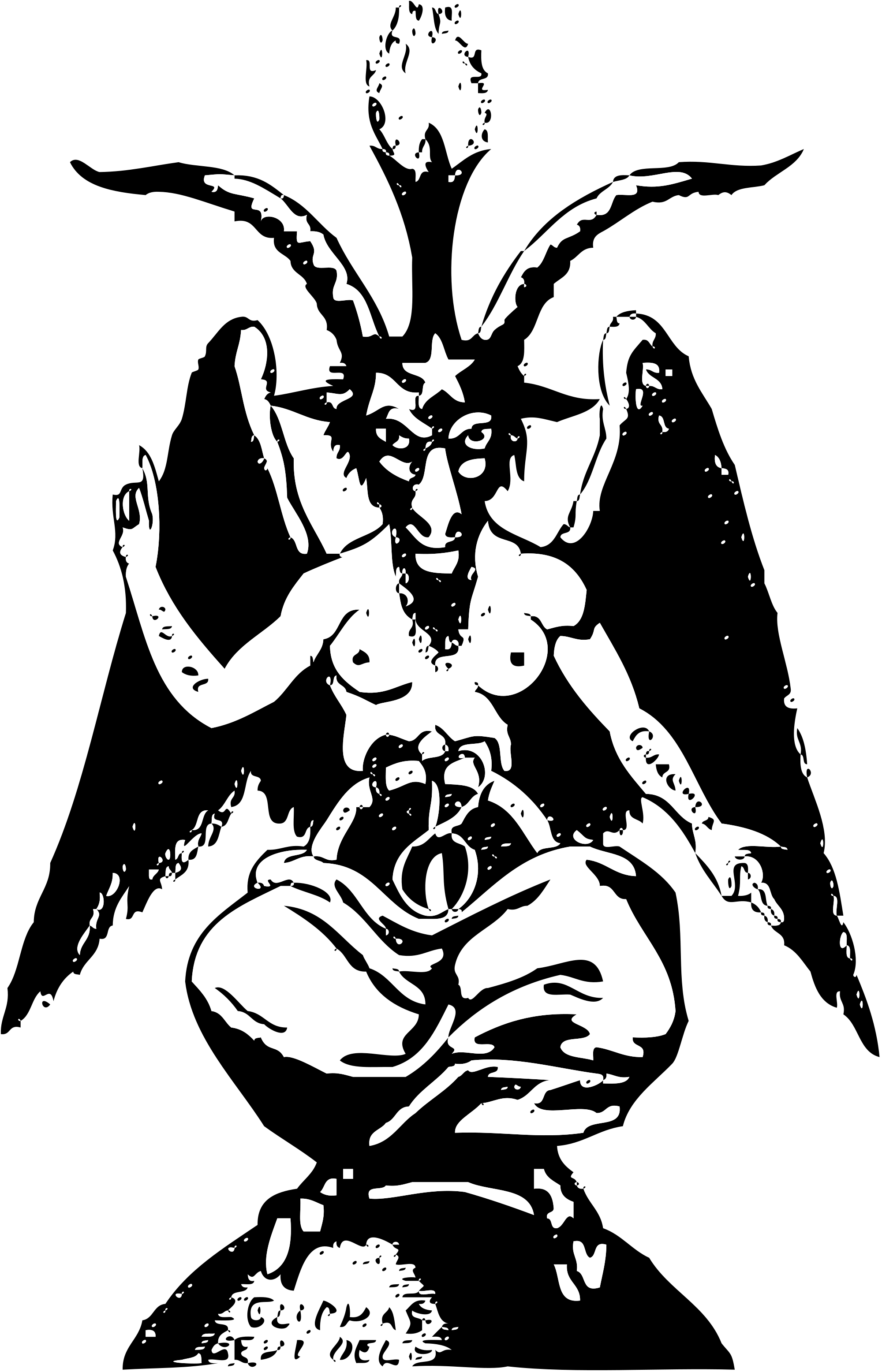 Baphomet transparent svg. File small wikimedia commons