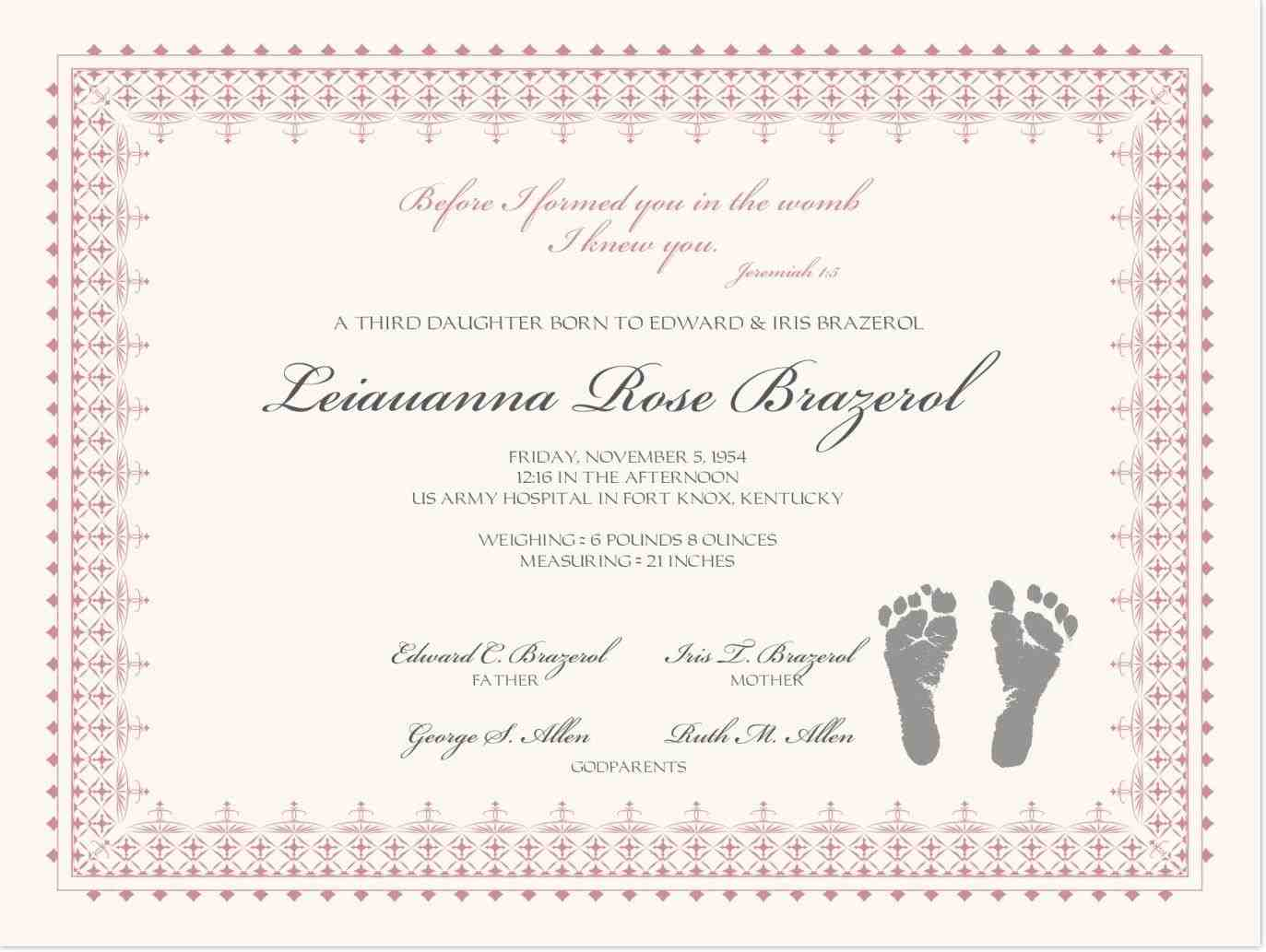 This is an image of Free Printable Baby Dedication Certificates for infant dedication