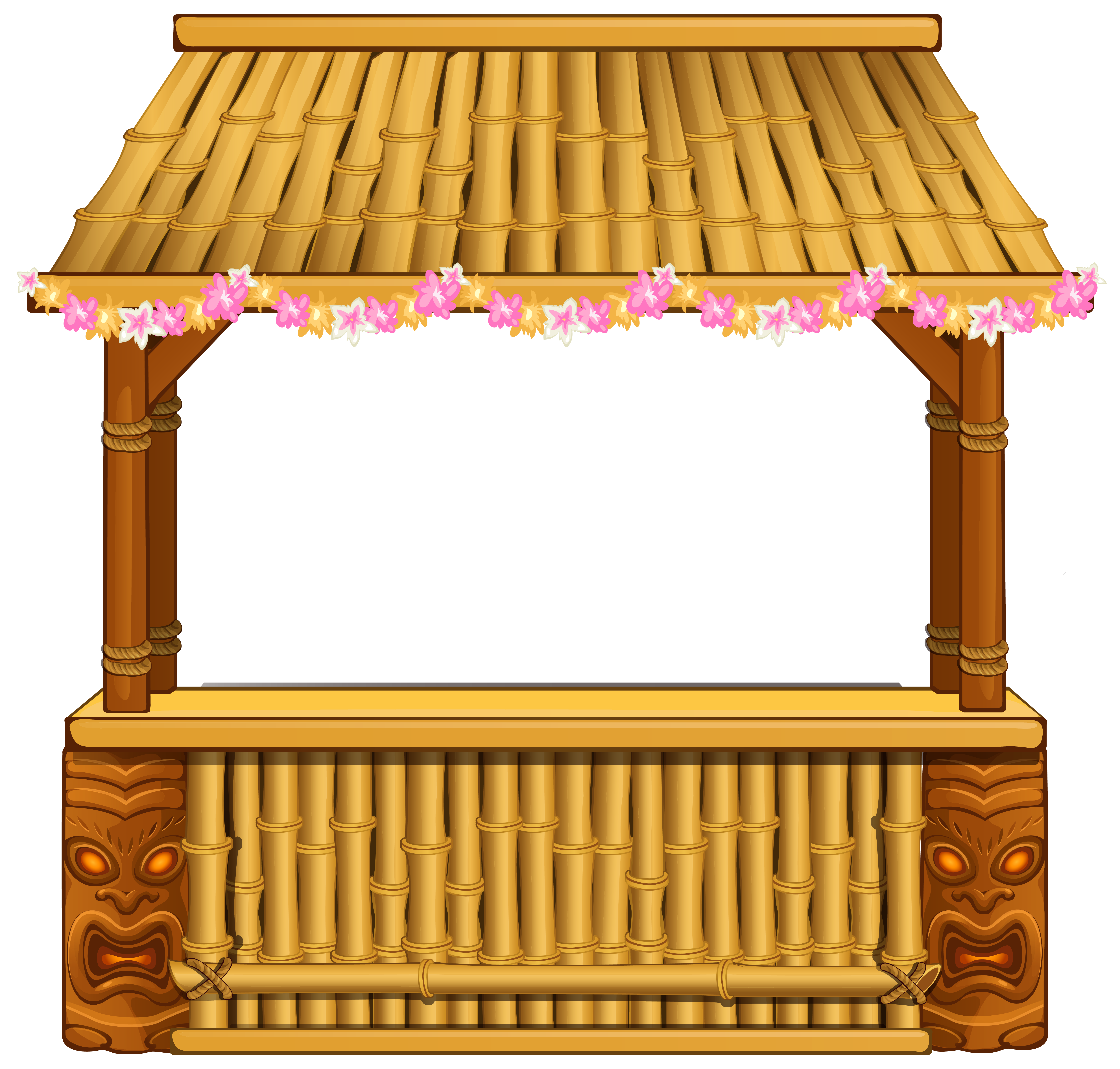 Bar background png. Tiki clipart image gallery