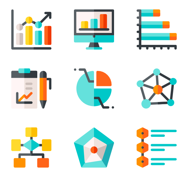 Vector market traditional. Bar chart icons free