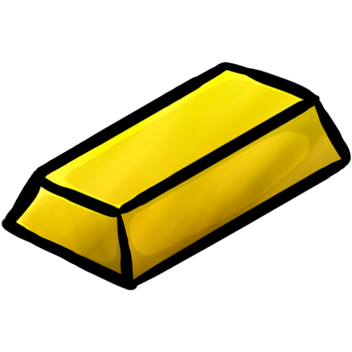 Drawing gold bars. Minecraft ingot icon png