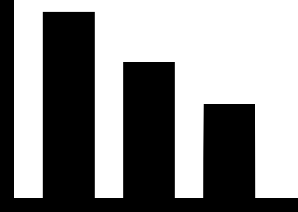 Bar graph png. Descending chart svg icon