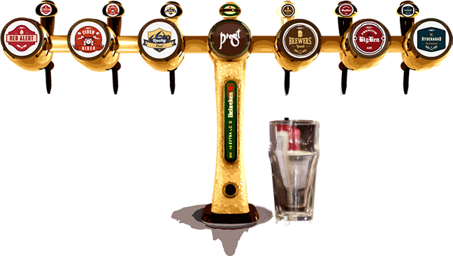 transparent beer tap png
