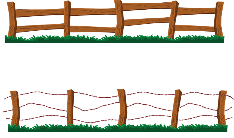 Barn clipart gate. Barb wire ranch fence