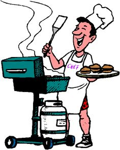 Barbecue clipart animated. Bbq cartoon funny labor