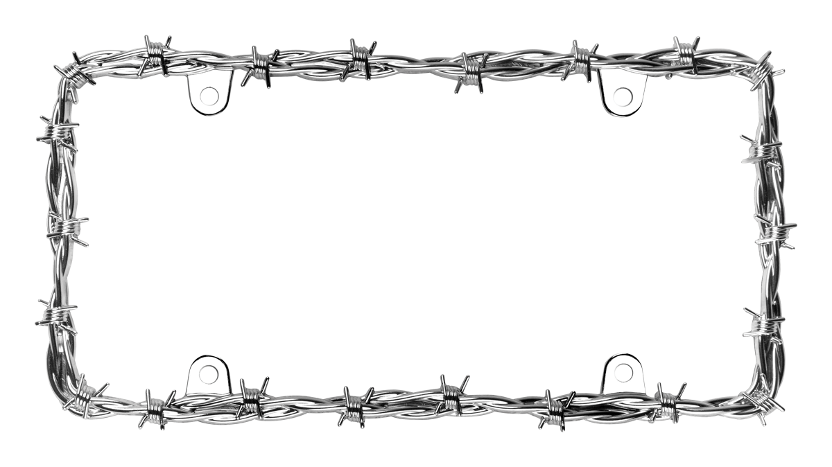 Ii license plate frame. Barbed wire border png image royalty free library